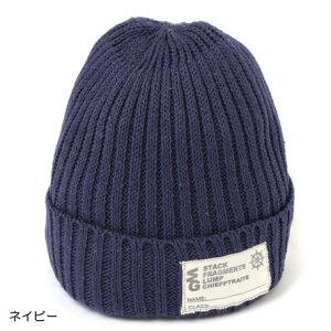 キッズ ベビー服 小物 海外 子供服 ワッペン付き綿麻ワッチ ニット帽 帽子 ネイビー 冬 秋 男の子 女の子