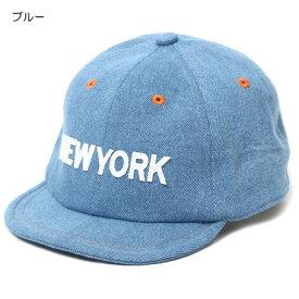 キッズ ベビー服 小物 海外 子供服 即日発送 デニム NEW YORK ベースボール キャップ 帽子 夏 秋 ブルー 54cm 男の子 女の子
