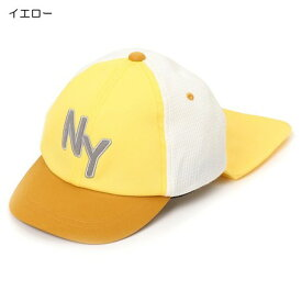 キッズ ベビー服 小物 海外 子供服 即日発送 タレ使い NEW YORK ベースボール キャップ 帽子 日よけ イエロー 54cm 男の子 女の子