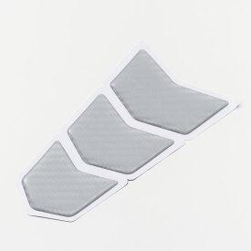 デイトナ 15578 タンクパッド(ポッティングタイプ) 3ピースSサイズ シルバーカーボン調
