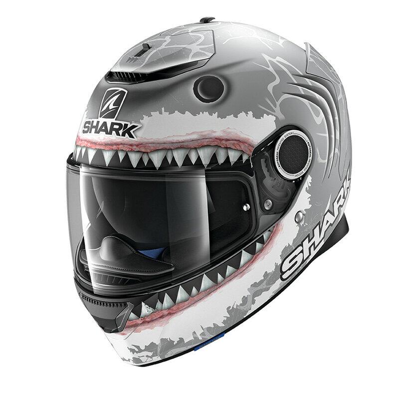 SHARK SPARTAN LORENZO Shark White 【S(55-56cm)サイズ】 シャーク スパルタン フルフェイス ヘルメット Q1C-LIK-Y02-W01