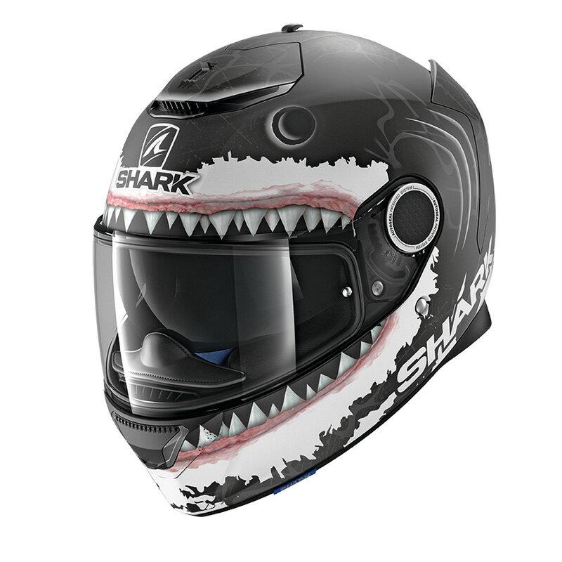 SHARK SPARTAN LORENZO Shark Black 【L(59-60cm)サイズ】 シャーク スパルタン フルフェイス ヘルメット Q1C-LIK-Y02-L03