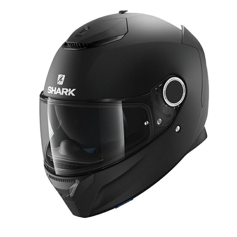 SHARK SPARTAN Black Mat 【M(57-58cm)サイズ】 シャーク スパルタン フルフェイス ヘルメット Q1C-LIK-Y02-M37