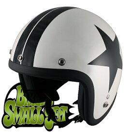 TNK工業 SPEED PIT スモールジェットヘルメット JL-65 BIKERS デザインカラー パールホワイト/スター