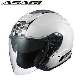 OGK ASAGI SPEED (アサギ スピード) ジェットヘルメット 【ホワイト Lサイズ】