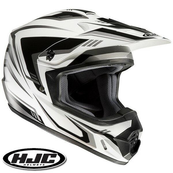 HJC CS-MX II エッジ オフロードヘルメット 【ホワイト/ブラック L(59-60cm):HJH123 EDGE】