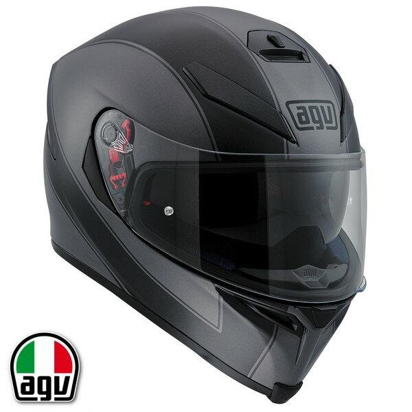 AGV K-5 S ENLACE フルフェイスヘルメット【マットブラック/グレー L(59-60cm)サイズ】