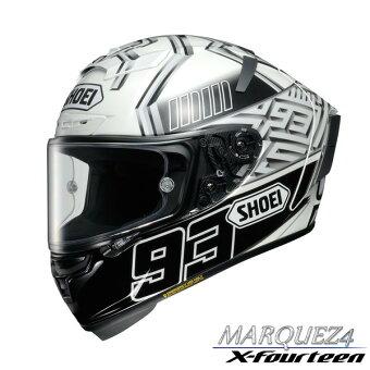 ショウエイX-FOURTEENMARQUEZ4【TC-6(WHITE/BLACK)Lサイズ】X-14レプリカフルフェイスヘルメット