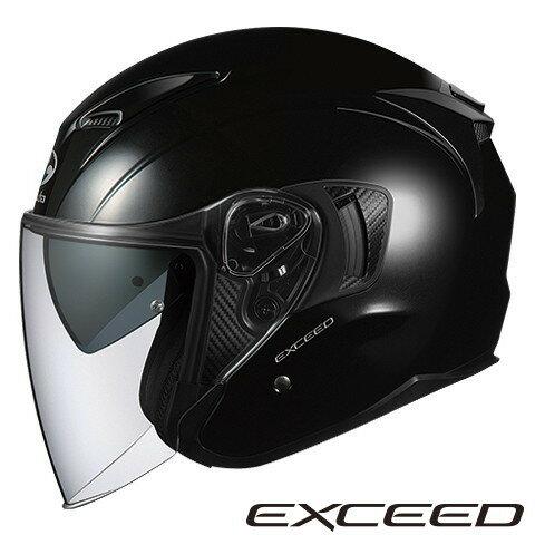 OGK EXCEED 【ブラックメタリック XLサイズ】 エクシード ジェットヘルメット