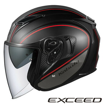 OGKEXCEEDDELIE【フラットブラックグレーXLサイズ】エクシードデリエジェットヘルメット