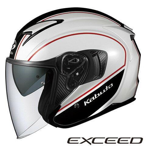 OGK EXCEED DELIE 【ホワイトブラック XLサイズ】 エクシード デリエ ジェットヘルメット