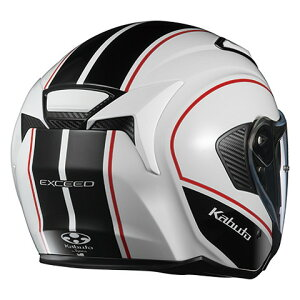 OGKEXCEEDDELIE【ホワイトブラックLサイズ】エクシードデリエジェットヘルメット