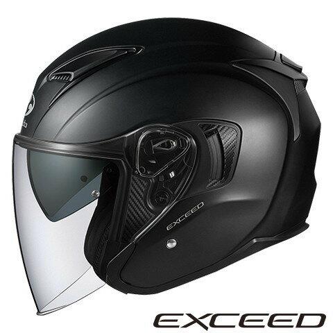 OGK EXCEED 【フラットブラック Mサイズ】 エクシード ジェットヘルメット
