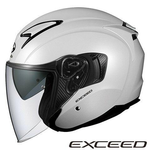 OGK EXCEED 【パールホワイト XLサイズ】 エクシード ジェットヘルメット