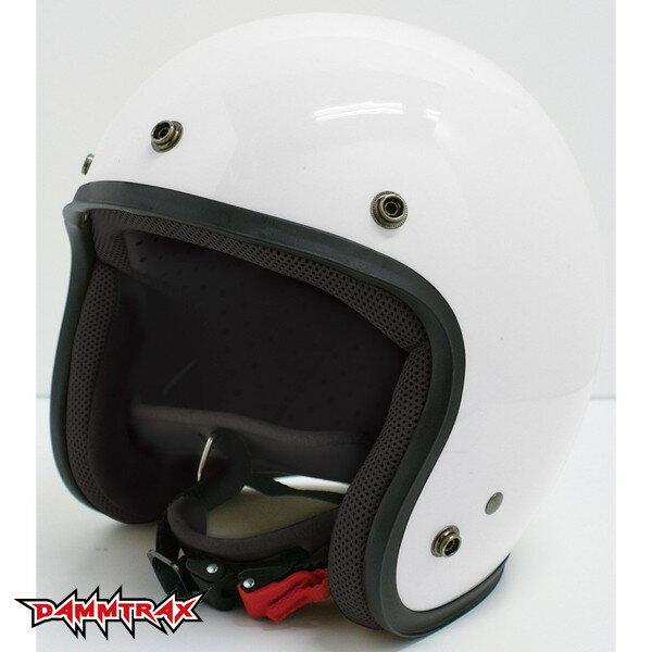 ダムトラックス JET-D 【パールホワイト メンズフリー(57-60cm未満)】 ジェットヘルメット