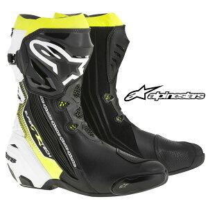 alpinestarsSUPERTECH-RBOOT2220015レーシングブーツ(BLACKWHITEYELLOWFLUO)