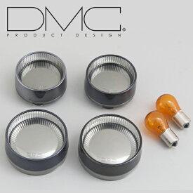 デイトナ DMC 76099 PROMINENCE プロミネンス ベゼルレンズ&カバーキット ブラックアウター/クロームインナー ハーレー用ウインカーレンズ