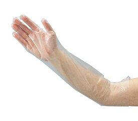 オルディ ポリエチレンロング手袋(ひじピタ) M 100枚入NCGL1403572-9757-02