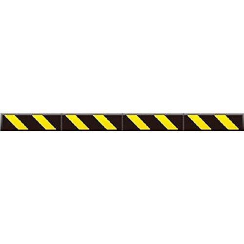 つくし工房/つくし つくし コーナークッションスリム 黒地 黄色反射シート C201A【smtb-s】