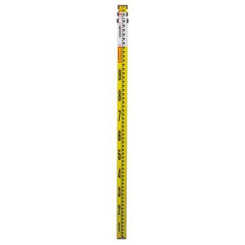 シンワ測定 品番:73264 アルミスタッフ II 3m3段 表面10mmピッチ 裏面1mmピッチ目盛付【smtb-s】