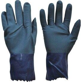ダンロップ 作業用手袋デジハンドニトリルコート M ダークブルー