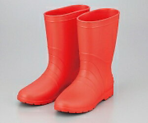 アズワン サニフィット耐油長靴(軽量タイプ) 24.0cm 赤 女性用NCGK0657982-3812-02
