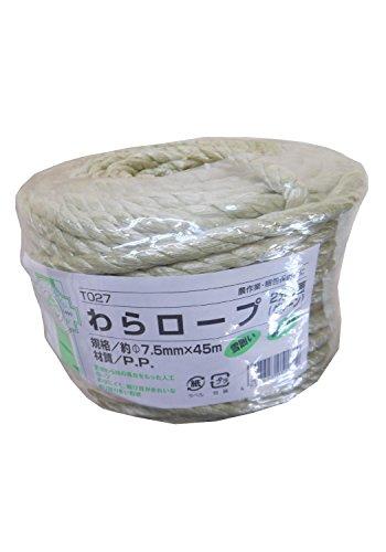 加藤伝蔵商店 GARDENING RANGUAGE わらロープ 2分5厘 φ7.5mm×45m T027