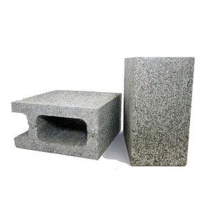 久保田セメント工業 コンクリートブロック 10cm 1/2コーナー コンクリート色 2個セット 1010060 (1092667)