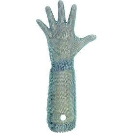 ミドリ安全(Midori Anzen) ミドリ安全 ステンレス製 耐切創クサリ手袋 5本指 ロングタイプ WILCO-550 Sサイズ 1枚【smtb-s】