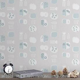 菊池襖紙工場 貼ってはがせてのり残りしない壁紙 北欧シリーズ 90cm×2.5m 果実 JK9053