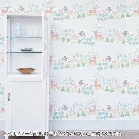 菊池襖紙工場 貼ってはがせてのり残りしない壁紙 北欧シリーズ 90cm×2.5m パレード JK9057