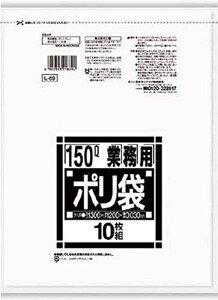 日本サニパック サニパック Lシリーズダストカート用150L薄口透明 10枚 L-89