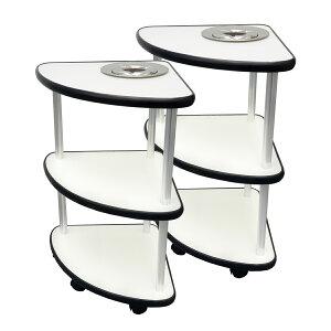 ミニサイドテーブル 2台セット 灰皿用穴あり(灰皿付き)【7,000円OFF】