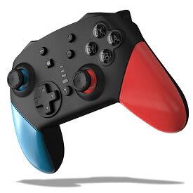 スイッチ 対応 コントローラー 大容量1200mAh 無線Bluetooth HD振動 連射機能 ジャイロセンサー機能搭載 Switch用 コントローラー