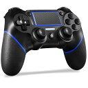 PS4 コントローラー ワイヤレス 最新バージョン 600mAh Bluetooth リンク遅延なし ジャイロセンサー機能 イヤホンジャ…