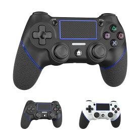 PS4 コントローラー ワイヤレス 最新バージョン 600mAh Bluetooth リンク遅延なし ジャイロセンサー機能 イヤホンジャック ゲームパット 搭載 高耐久ボタン 二重振動