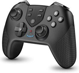 Nintendo Switch対応 コントローラー スイッチ用 コントローラー プログラム編集機能 無線Bluetooth HD振動 連射機能 ジャイロセンサー機能搭載