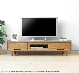 140cm 北欧テイスト ルンバ通ります 丸脚 テレビボード 木製テレビ台 ナラ材 ナチュラルテイスト ナラ無垢材 ローボード