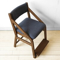 ナラ無垢材木製椅子成長に合わせて子供から大人まで使えるナラ材の子供チェア勉強椅子ダイニングテーブルや学習デスクと合わせて使える天然木のキッズチェアKIDS-CHAIR2-WNウォールナット色ブラウン色