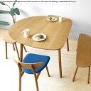 【受注生産商品】幅89cm 111cm 133cmの3サイズ ナラ材 ナラ無垢材 半楕円形状のかわいらしいダイニングテーブル カウンターテーブルと…