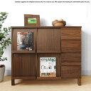 幅106cm ウォールナット材 ウォールナット無垢材 天然木 木製本棚 シンプルモダンデザイン オフィス家具 引き出し付きブックシェルフ …