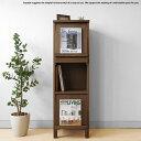 幅40cm ウォールナット材 ウォールナット無垢材 天然木 木製本棚 シンプルモダンデザイン オフィス家具 ブックシェルフ ディスプレイラ…