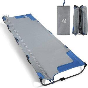 DEERFAMY アウトドアベッド 【一体化設計】【組み立て簡単】 折りたたみ ベッド キャンプコット撥水生地 耐荷重100KG 収納バッグ付き 1人用