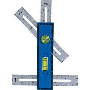 Kreg (クレッグ) マルチマーク 水平器付き多目的定規 KMA2900 90°スコヤ、45°スコヤ、デプスゲージとして 多機能スケール 正規輸入品