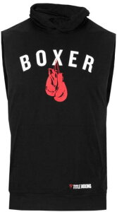 タイトルボクシング Title Boxing タンクトップパーカー ノースリーブ ブラック グレー フーディーボクサータンクトップ ボクシング ジムウエア メンズトップススポーツウエア トレーニングウ