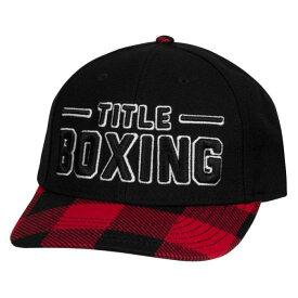 タイトルボクシング Title Boxing キャップ メンズレディース 帽子 黒 くろ ブラック 赤 チェック柄スナップバック 野球帽 ハット 男女兼用キャップ ユニセックス日よけ カジュアルキャップ ロゴ おしゃれキャッププレードフラットビルキャップ