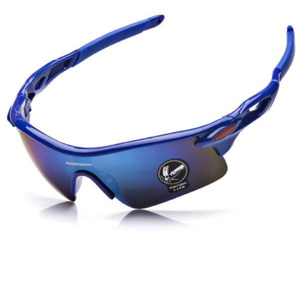 サングラス アウトドアスポーツメンズサングラス UVプロテクション新作カラー:ブルー アイウエアー メガネ