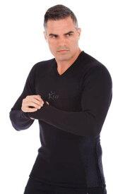 サウナスーツ メンズ 長袖シャツ ロングTシャツ ロンT ジムウエアジム用品 トレーニングウエア 筋トレウエア 発汗 ランニング 減量スポーツウエア ボクシング ダイエット 脂肪燃焼 代謝アップサウナスーツシャツ V3