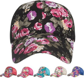 キャップ レディース メンズ メッシュキャップ花柄キャップ お花キャップ フローラル おしゃれ 帽子男女兼用 ユニセックス ハット ベースボールキャップ日よけ UV 日焼け対策 野球帽