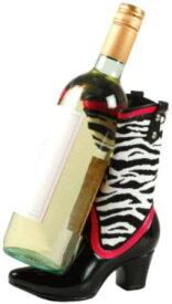 Wild Eye ハイヒール ワインボトルホルダー カウガールブーツ ゼブラ【送料無料】【輸入品】ワインホルダー/ワインラック/ボトルホルダー/ワイングッズワインアクセサリー/ワインギフト/ワインプレゼント